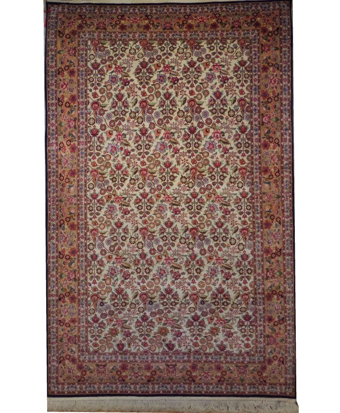 Handmade Silk on Wool and Cotton Carpet – FREE SHIPPING..!