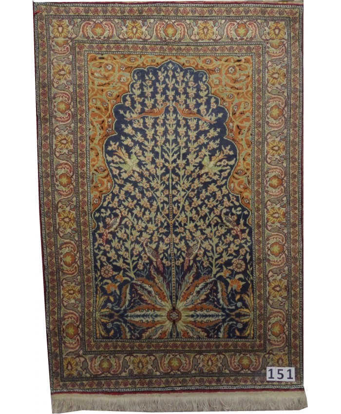 Handmade Turkish Kayseri Floss Silk on Cotton Carpet –  FREE SHIPPING..!