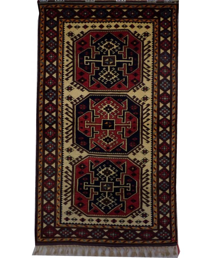 Turkish Yagci Bedir Nomadic Handmade Wool on Wool Carpet – FREE SHIPPING..!