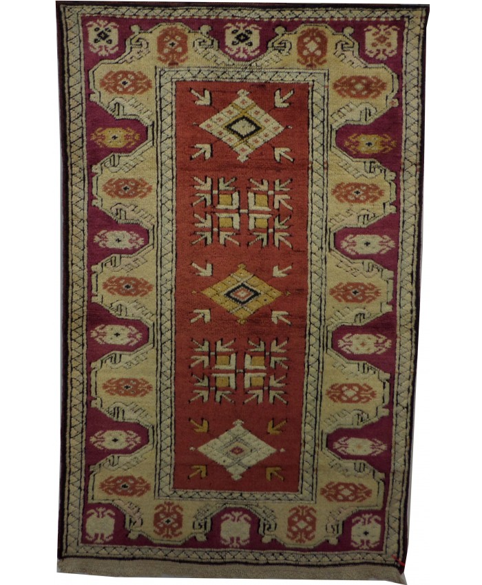 Turkish Milas Nomadic Handmade Wool on Wool Carpet – FREE SHIPPING..!