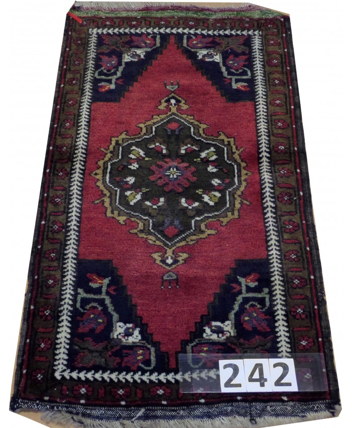 Turkish Niğde Taşpınar Nomadic Handmade Wool on Wool Carpet – FREE SHIPPING..!