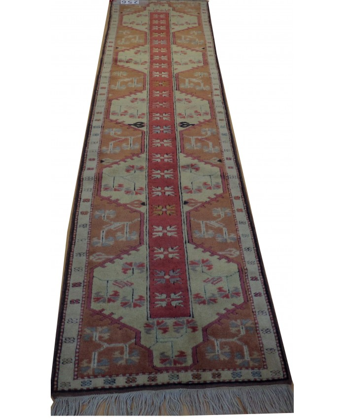 Handmade Turkish Milas Nomadic Runner Orijinal Wool on Wool Carpets – FREE SHIPPING..!