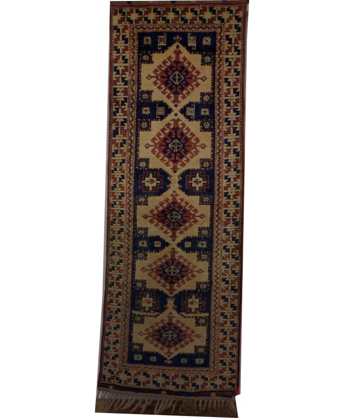 Handmade Turkish Shirvan Nomadic Runner  Original Wool on Wool Carpets – FREE SHIPPING..!