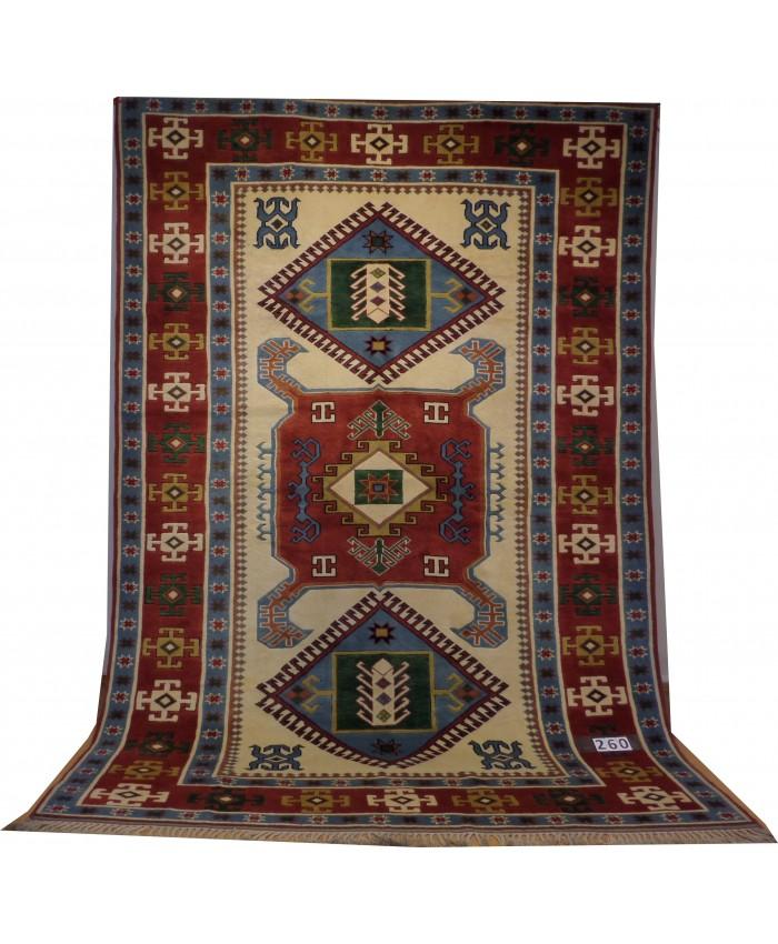 Turkish Kars Nomadic Handmade Wool on Wool Carpet – FREE SHIPPING..!