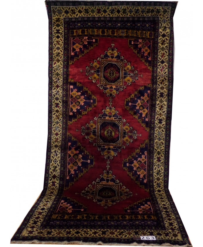 Handmade Turkish Central Anatolian Nomadic Big Runner Original Wool on Wool Carpets – FREE SHIPPING..!
