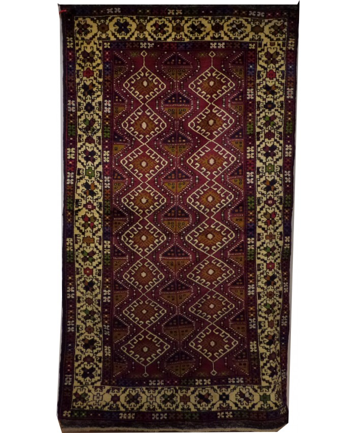 Handmade Turkish Central Anatolian Niğde Çamardı Nomadic Original Wool on Wool  Carpet – FREE SHIPPING..!