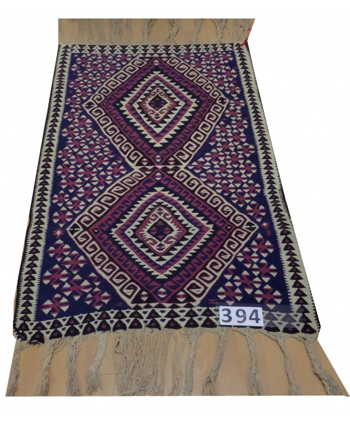 Handmade Turkish Hakkari Canbezer Nomadic Original  Wool on Wool Kilim – FREE SHIPPING..!