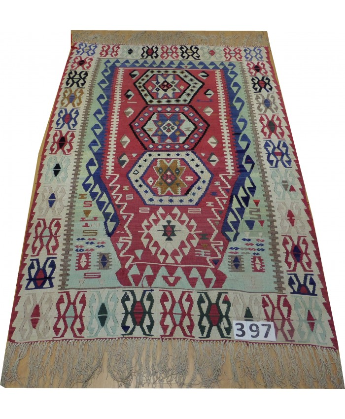 Handmade Turkish Kayseri Kilim Original Silk On Silk – FREE SHIPPING..!