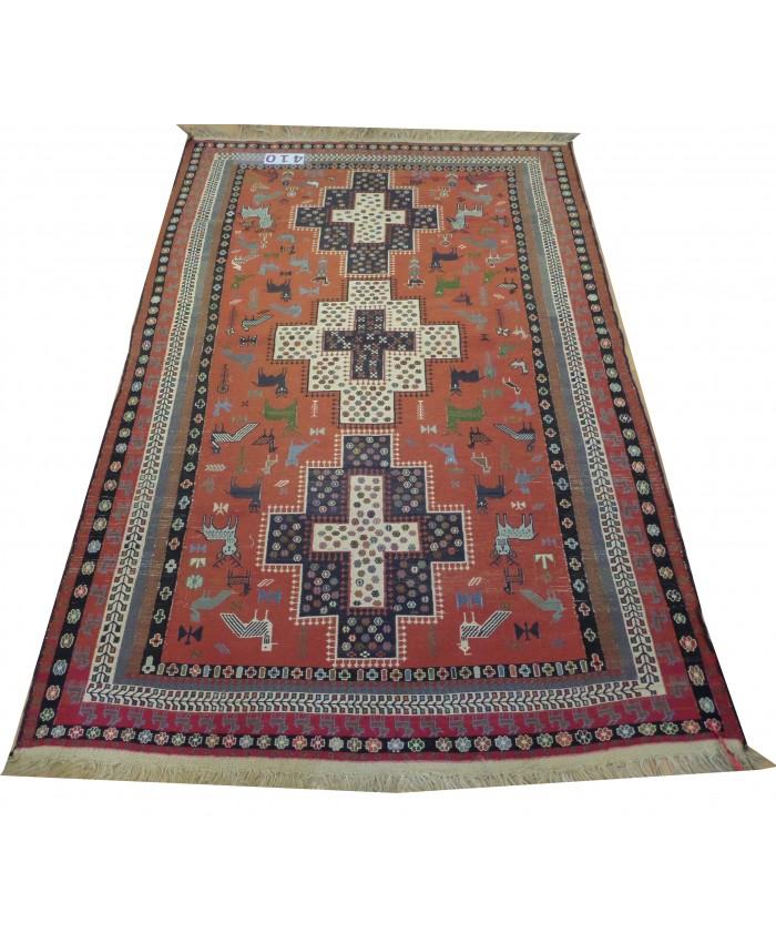 Handmade Hakkari Avşar Kilim Original Wool On Wool – FREE SHIPPING..!