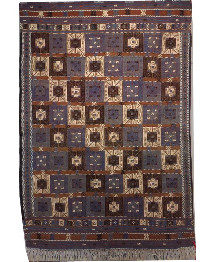 Handmade Turkish İzmir Bergama Cecim Original Wool On Cotton Kilim – FREE SHIPPING..!