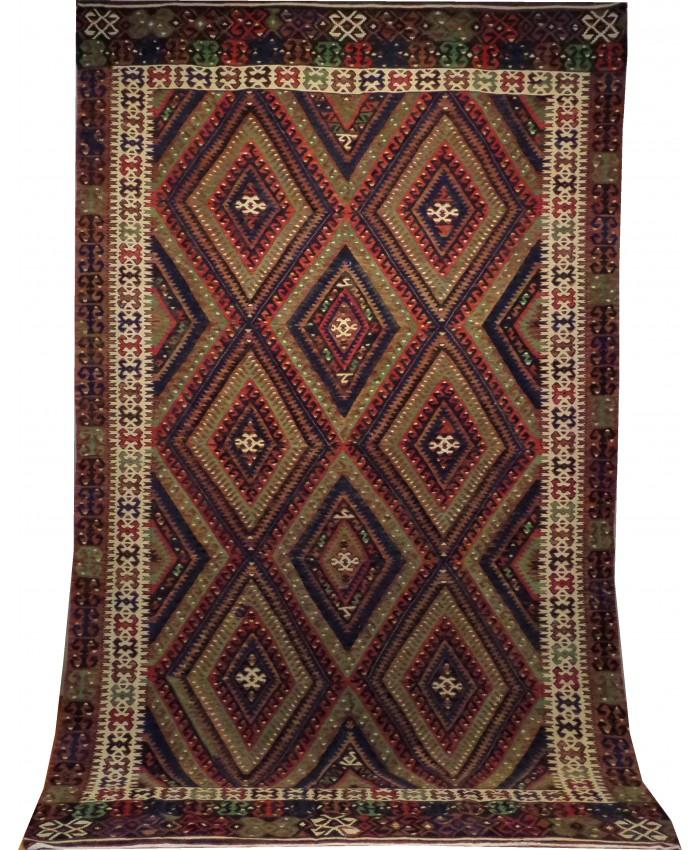 Handmade Turkish Fethiye Seydiler Kilim Original Wool On Cotton – FREE SHIPPING..!