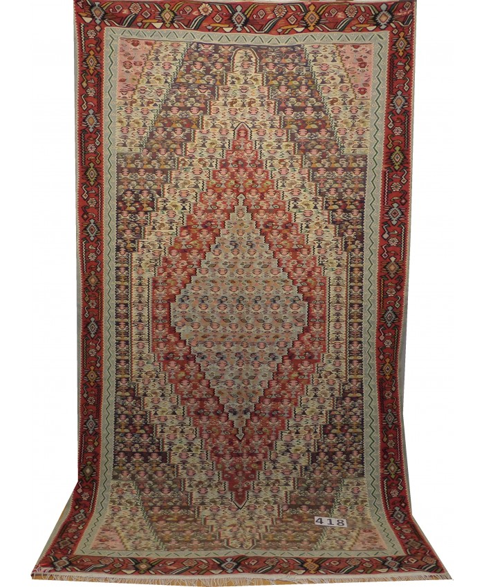 Handmade Hakkari Yüksekova Sine Original Wool On Cotton Kilim – FREE SHIPPING..!