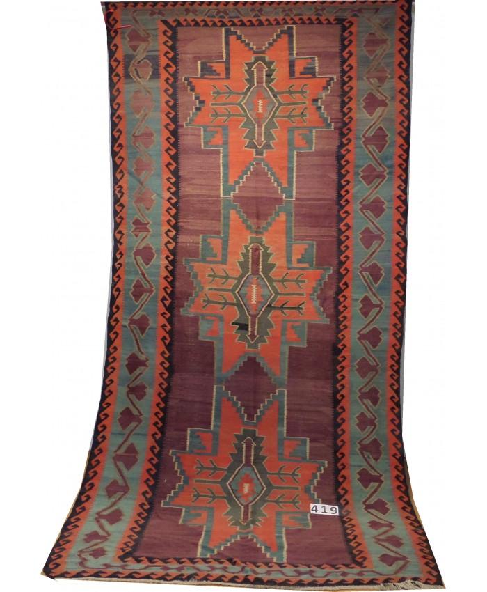 Handmade Anatolian Kazak Kilim Original Wool On Wool – FREE SHIPPING..!