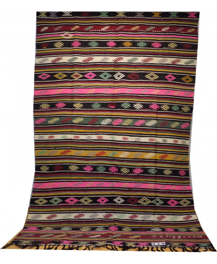 Handmade Turkish Nomadic Anatolia Kilim Original Wool On Wool – FREE SHIPPING..!