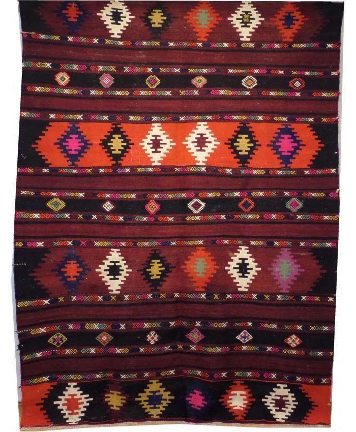 Handmade Turkish Nomadic Anatolian Sivas Kilim Original Wool On Cotton – FREE SHIPPING..!