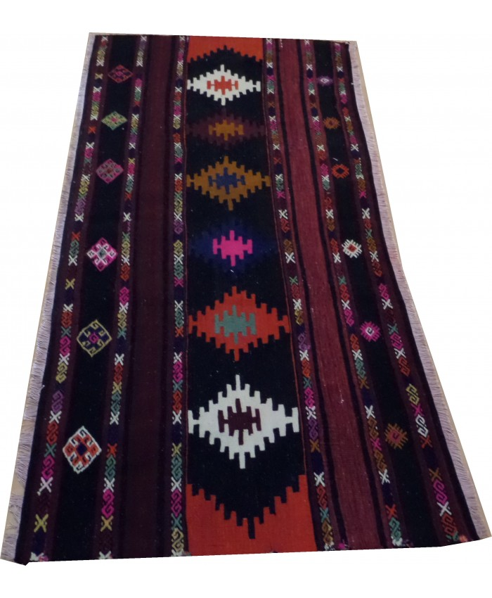 Handmade Turkish Anatolian Sivas Original Wool On Cotton Kilim – FREE SHIPPING..!