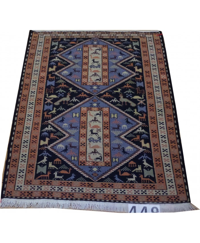 Handmade Hakkari Bici Şehsavan Original Wool On Cotton Kilim – FREE SHIPPING..!