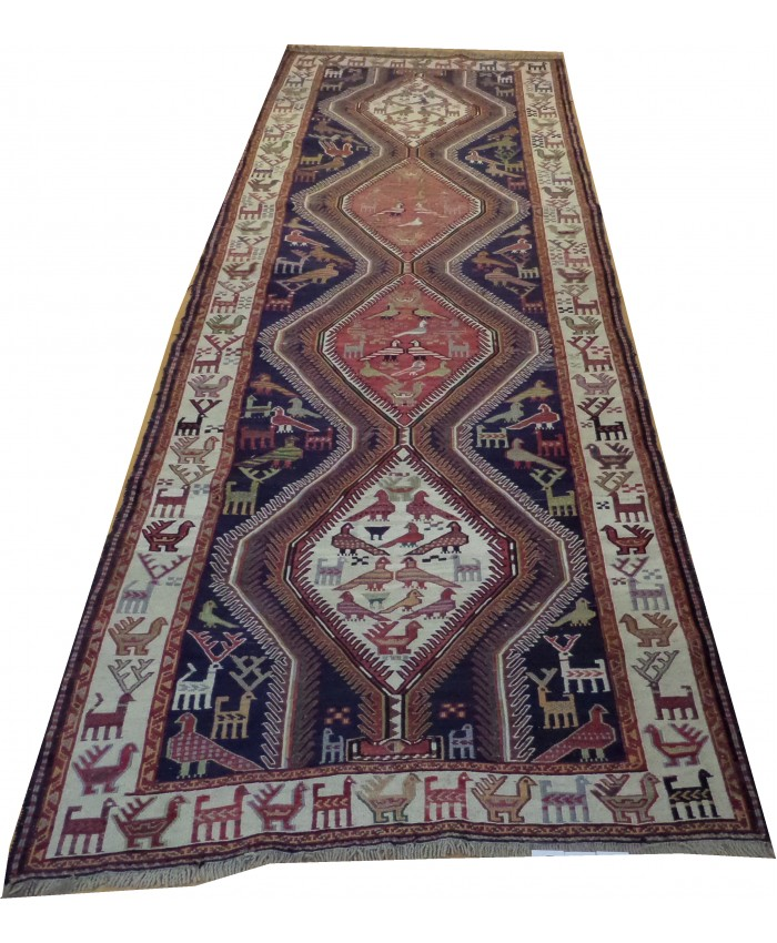 Handmade Hakkari Sumak Original Wool On Wool Kilim – FREE SHIPPING..!