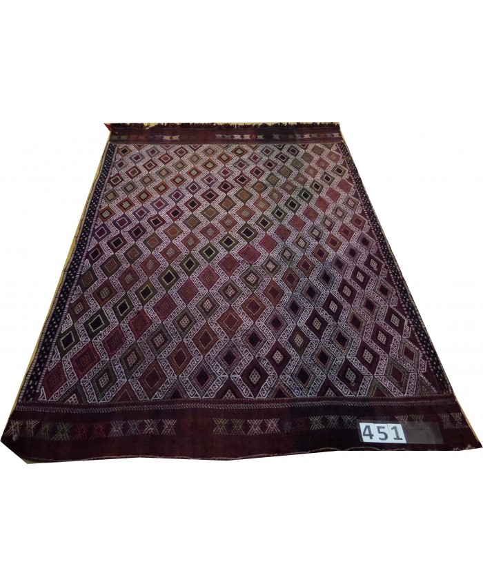 Handmade Turkish Konya Cecim Original Wool On Wool Kilim – FREE SHIPPING..!