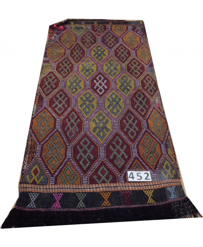 Handmade Turkish Anatolia Cecim Original Wool On Wool Kilim – FREE SHIPPING..!