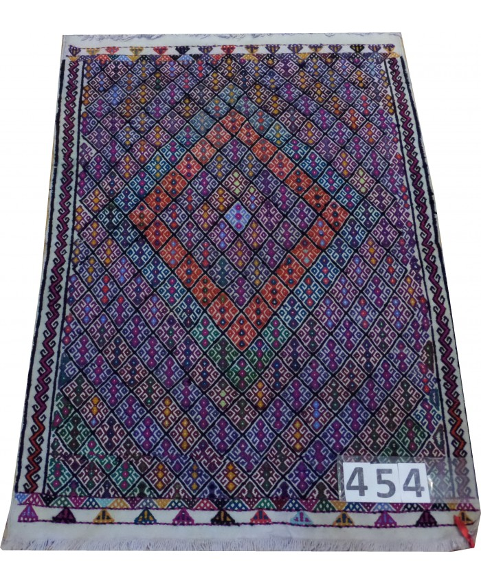Handmade Turkish Anatolia Cecim Kilim Original Wool On Cotton – FREE SHIPPING..!