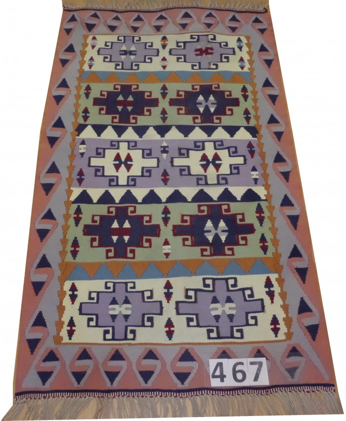 Handmade Turkish Kayseri Acrylic Original Kilim – FREE SHIPPING..!