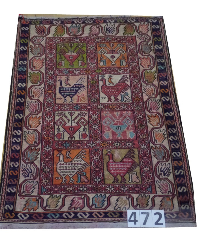 Handmade Hakkari Sumak Kilim Original Silk On Wool  – FREE SHIPPING..!