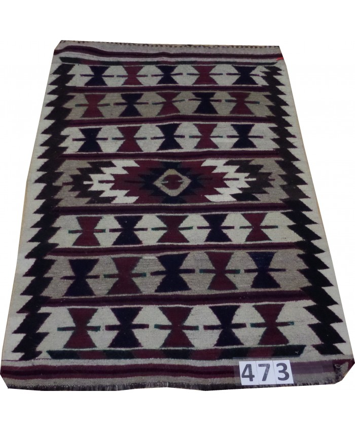Handmade Turkish Nomadic Mut Kilim Original Wool On Wool – FREE SHIPPING..!