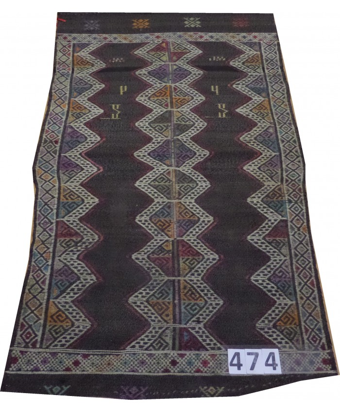 Handmade Turkish Anatolian Nomadic Cecim Kilim Original Wool On Wool  – FREE SHIPPING..!