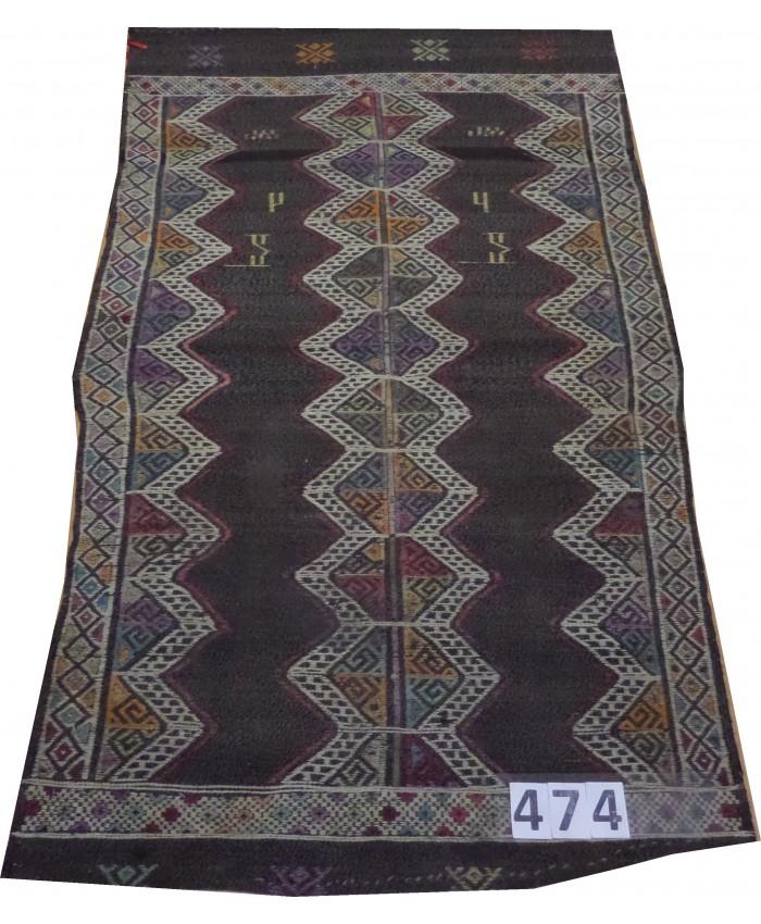 Handmade Turkish Anatolian Nomadic Cecim Kilim Original Wool On Wool  – FREE SHIPPING..!