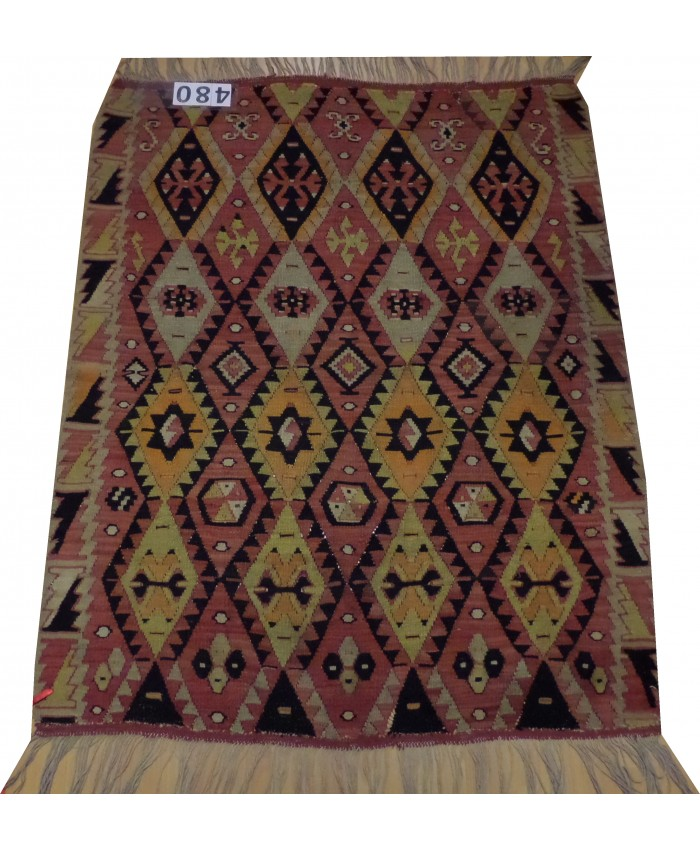 Handmade Turkish Anatolian Nomadic Kilim Original Wool On Wool  – FREE SHIPPING..!