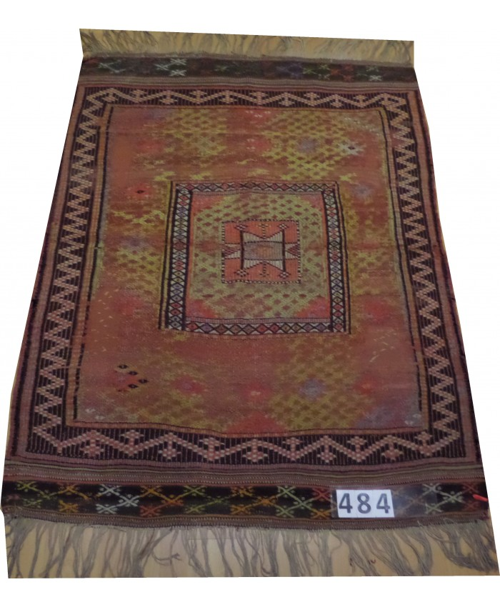 Handmade Turkish Anatolia Nomadic Cecim Kilim Original Wool On Wool  – FREE SHIPPING..!