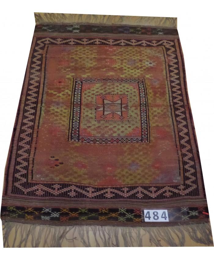 Handmade Turkish Anatolia Nomadic Cecim Kilim Original Wool On Wool  – FREE SHIPPING..!