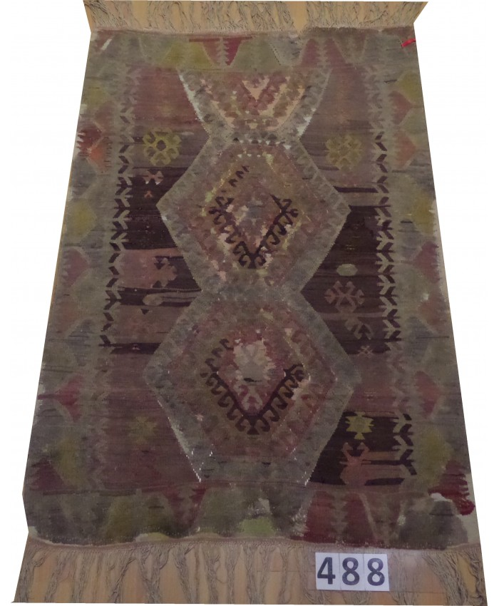 Handmade Turkish Anatolian Nomadic Kilim Original Wool On Cotton – FREE SHIPPING..!