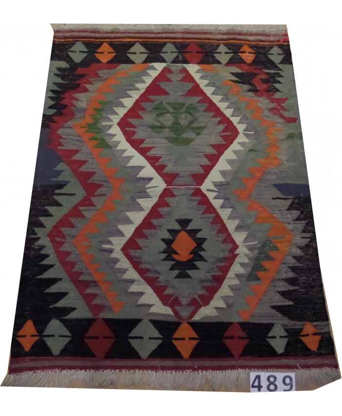 Handmade Turkish Anatolia Nomadic Kilim Original Wool On Cotton – FREE SHIPPING..!