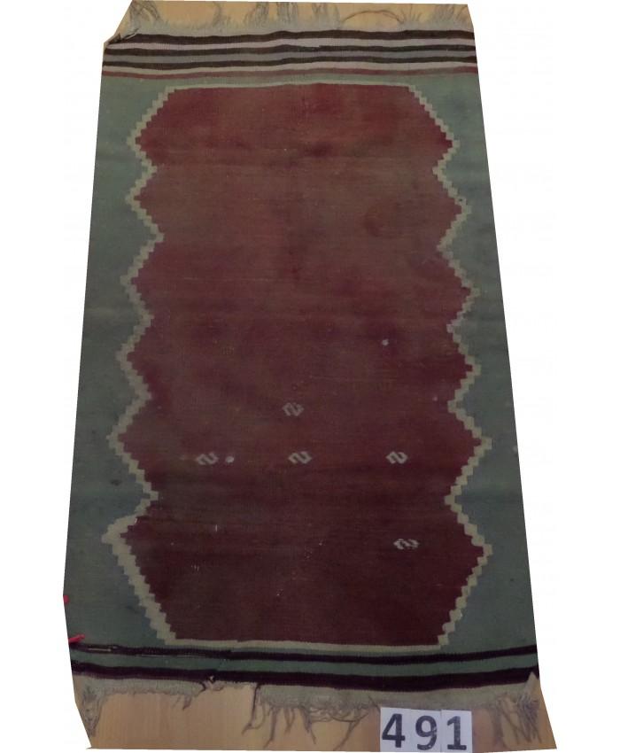 Handmade Turkish Anatolia Nomadic Kilim Original Wool On Wool – FREE SHIPPING..!