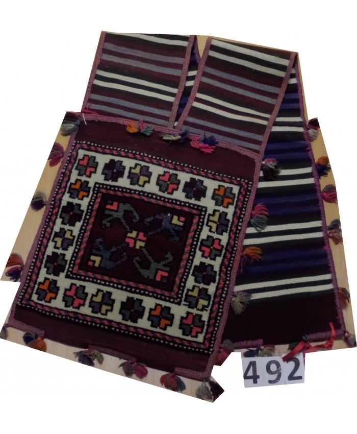 Handmade Turkish Anatolia Saddle Bag Carpet Original Wool On Wool – FREE SHIPPING..!
