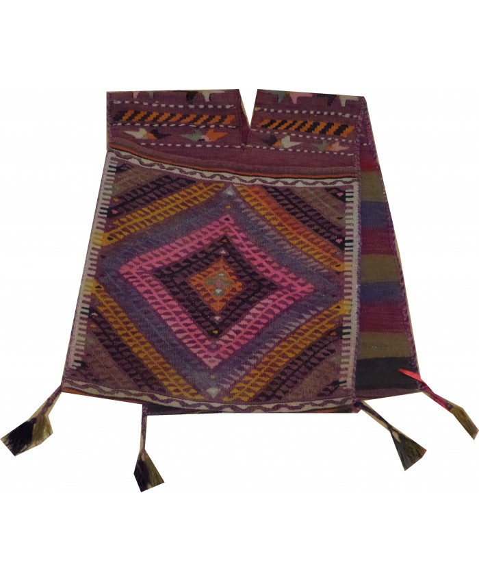 Handmade Turkish Anatolian Nomadic Fethiye Seydiler SaddleBag Original Wool On Wool – FREE SHIPPING..!
