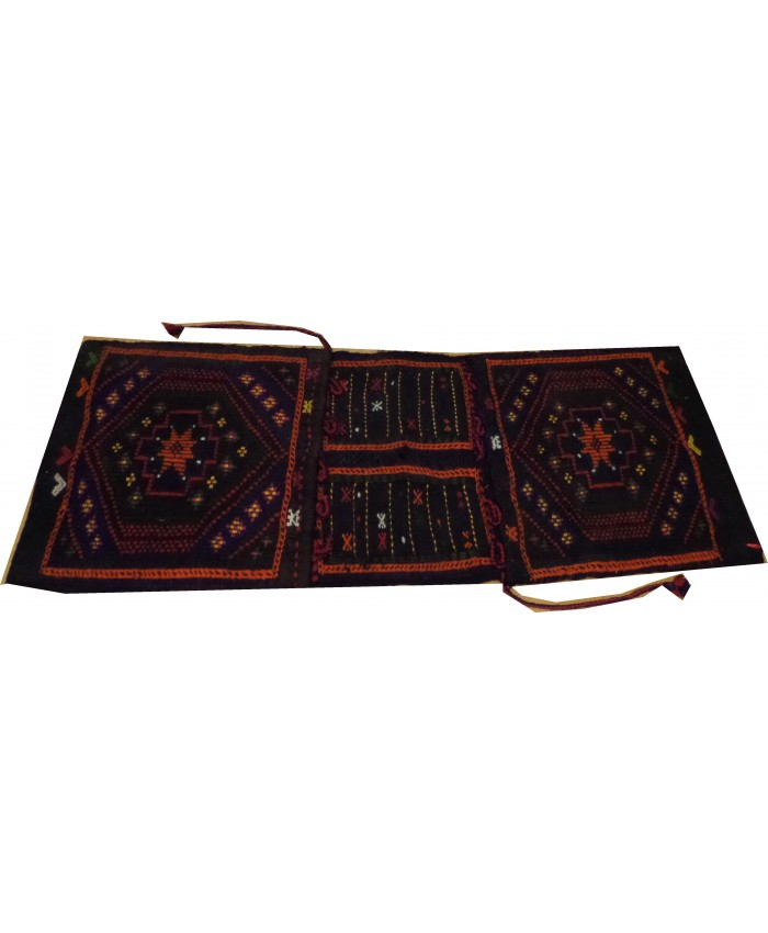 Handmade Turkish Anatolia Nomadic Cecim SaddleBag Original Wool On Wool – FREE SHIPPING..!