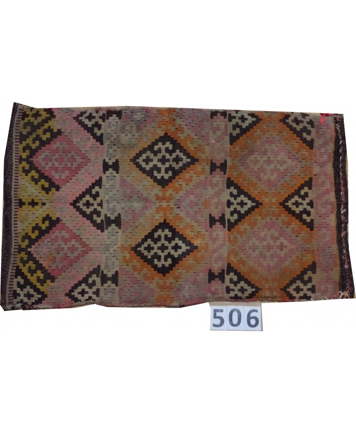 Handmade Turkish Anatolian Nomadic Cushion Kilim Original Wool On Wool – FREE SHIPPING..!