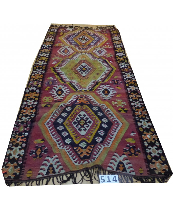 Handmade Turkish Anatolia Nomadic Kilim Original Wool On Wool  – FREE SHIPPING..!