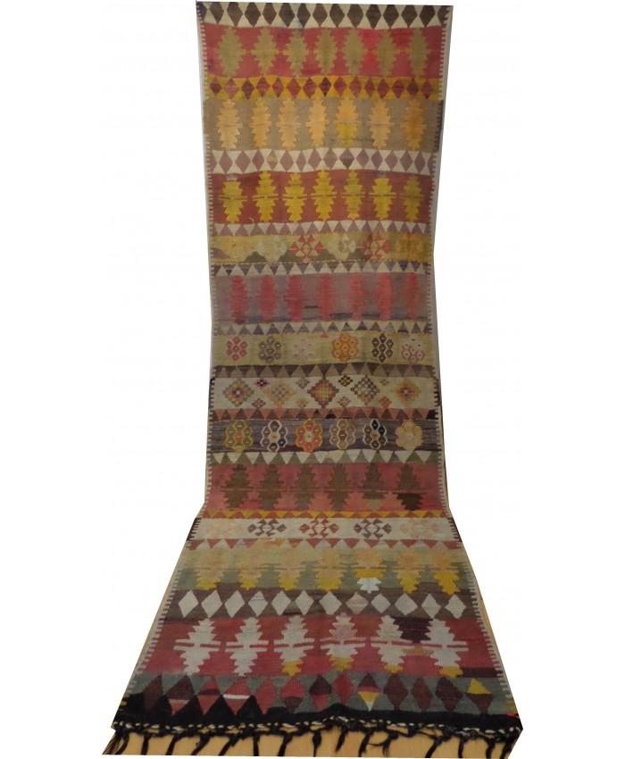 Handmade Turkish Anatolian Nomadic Kilim Original Wool On Wool – FREE SHIPPING..!