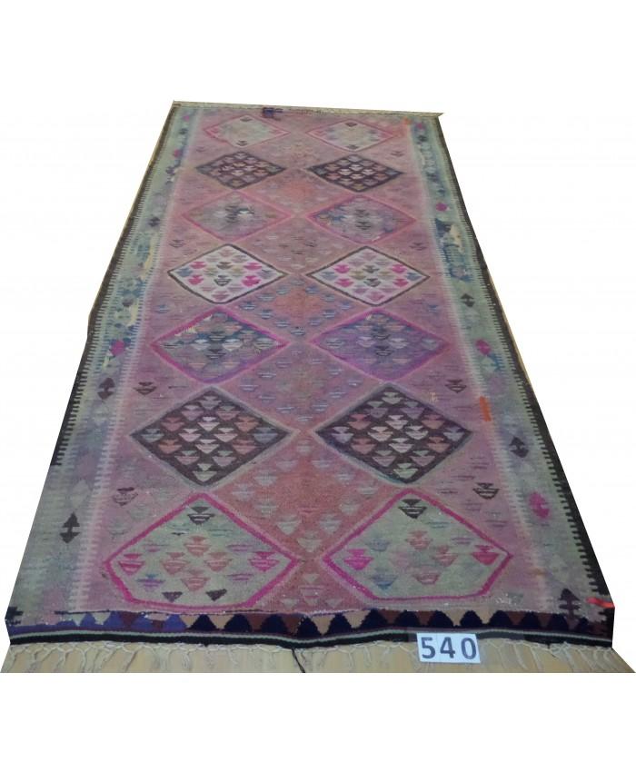 Handmade Turkish Anatolian Nomadic Kilim Original Wool On Cotton – FREE SHIPPING..!