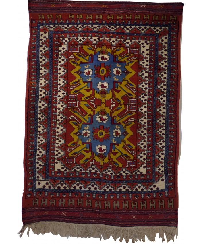 Handmade Anatolian Kazak Nomadic  Original Wool on Wool Carpet – FREE SHIPPING..!