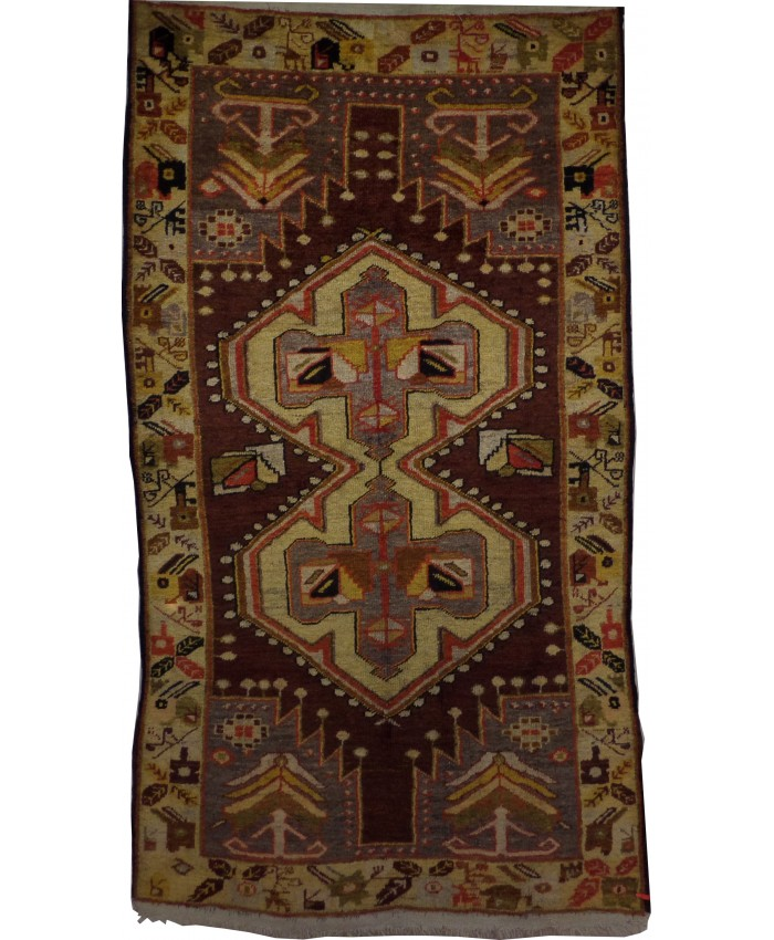 Handmade Turkish Anatolian Carpet Wool On Cotton - FREE SHIPPING ..!