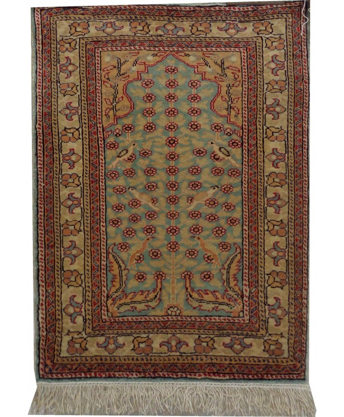 Handmade Turkish Kayseri Original Silk Carpet  – FREE SHIPPING.!!