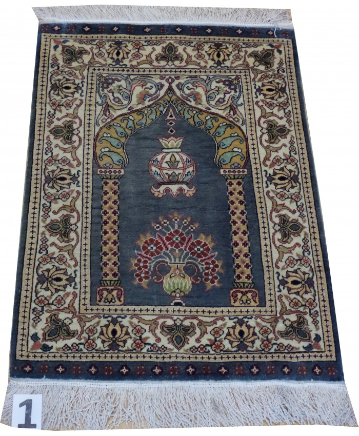 Handmade Turkish Kayseri Original Silk Carpet  - FREE SHIPPING..!