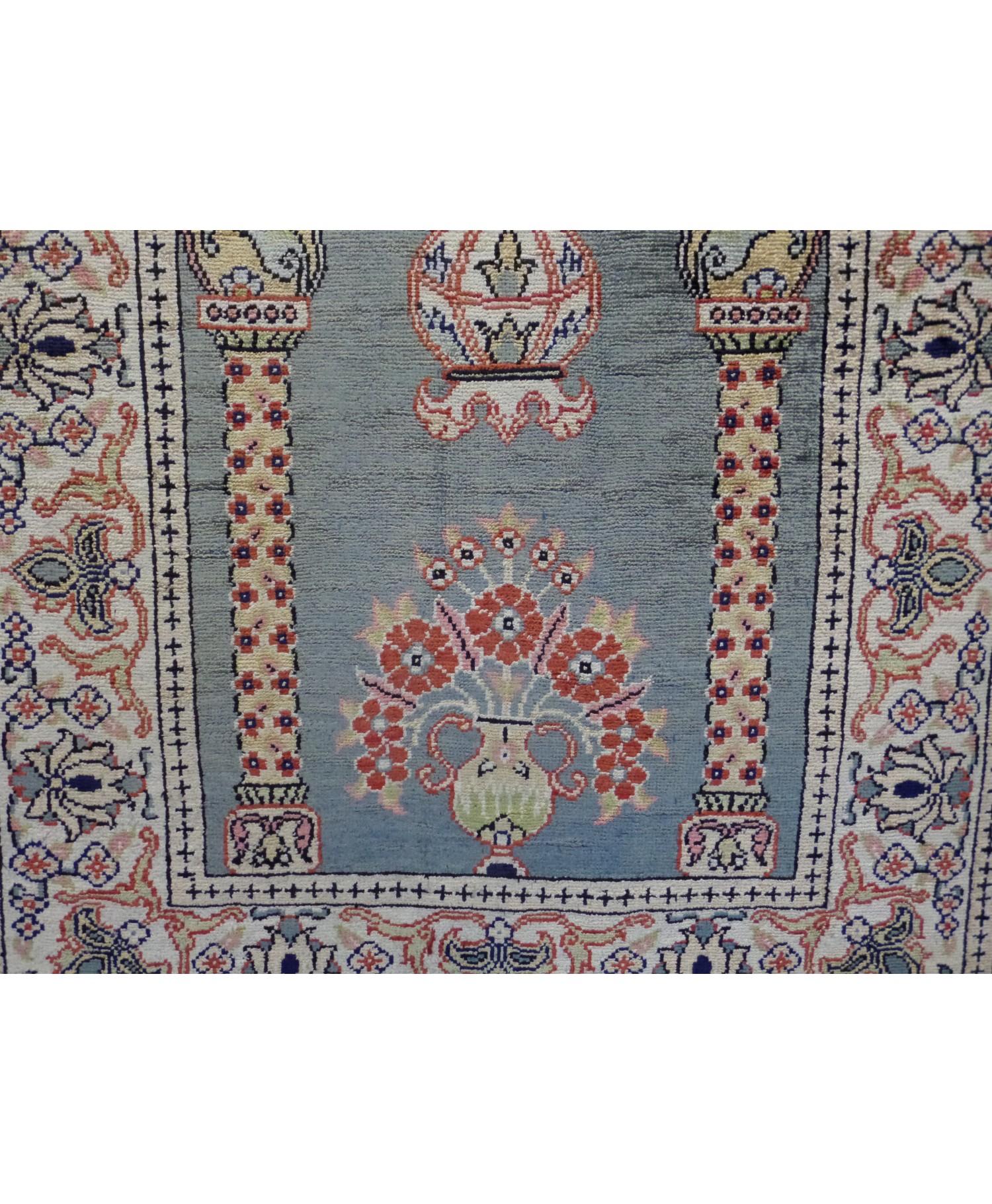 Handmade Turkish Kayseri Original Silk Carpet - 1 - FREE SHIPPING.