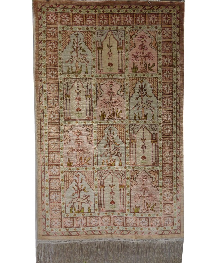Handmade Turkish Hereke Original Silk Carpet – FREE SHIPPING..!