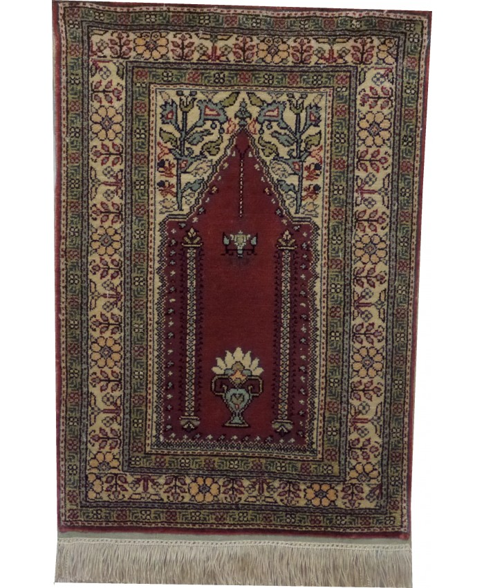 Handmade Turkish Kayseri Original Silk Carpet  – FREE SHIPPING..!